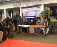 Kambal (Blanket) Distribution at Ramnagar, Sarlahi_ FY 2074-75